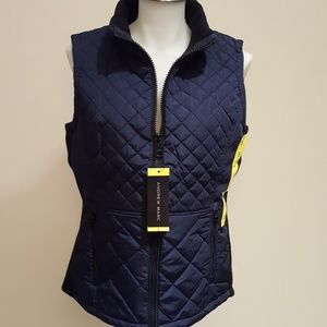 🎁NWT Andrew Marc Quilted Navy Vest